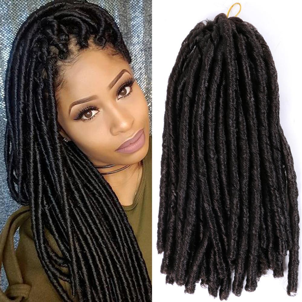 Soft Locs Dreadlocks Braiding Hair Crochet Braiding Hair Synthetic Crochet Hair Extensions 14 Inch High Temperature Fiber Braid