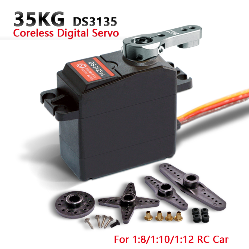Image 4 - 1X35kg high torque Coreless motor servo DS3135 Metal gear and DS3235 StainlessSG waterproof digital servo for Robotic DIY,RC car-in Parts & Accessories from Toys & Hobbies