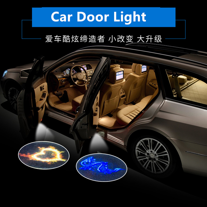 2PCS Welcome Logo Light For Liga BBVA Team La Liga Spanish League Team NBA team Logo Led Car Door image