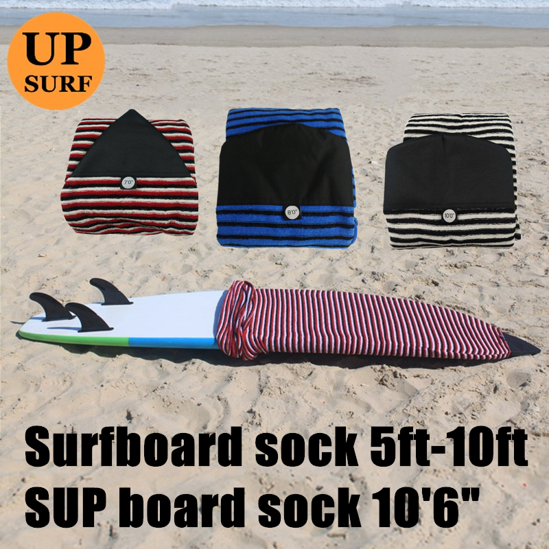 Surfing Sock 5ft-10ft Good-Quality Qick-dry Surf Cover 6ft/7ft/8ft/9ft Surfboard Bag Free Shipping