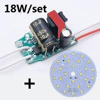 Chip LED lámpara de bulbo 3W 5W 7W 9W 12W 15W 18W SMD2835 Kit diodo redondo LED fuente de luz en la Junta para bombillas LED foco DIY
