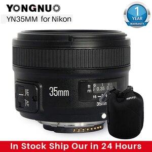Image 1 - Yongnuo Yn 35Mm F2 Camera Lens Voor Nikon Canon Eos YN35MM Lenzen Af Mf Groothoek Lens Voor 600D 60D 5DII 5D 500D 400D 650D 6