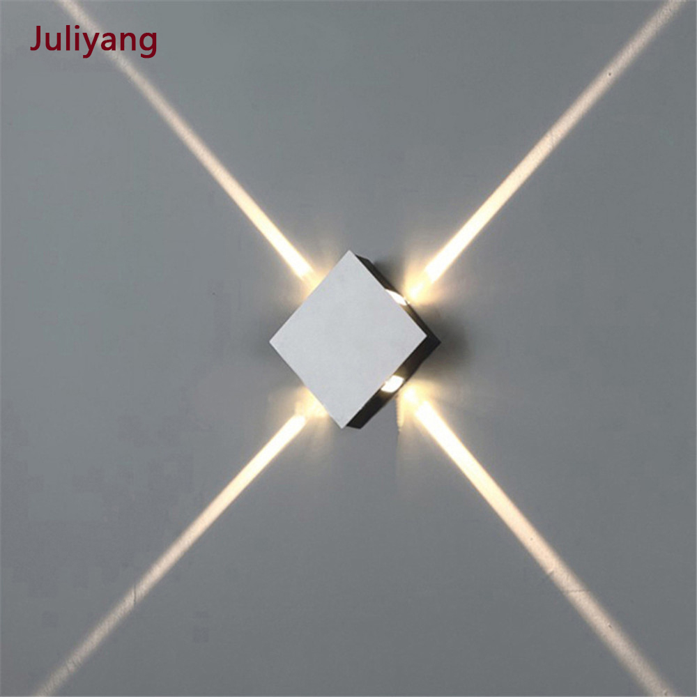 Led Wall Lamp Bedside Lamp Bedroom Living Room Wall Lamp Modern Simple Creative Corridor Hotel Cross Star Wall Light Ac85-265v