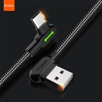 MCDODO 90 ° USB Kabel Für Xiaomi Redmi Huawei Samsung Schnelle Lade Micro USB Typ C Kabel Für iPhone 12 11 Pro MAX XS XR X 8 7 6