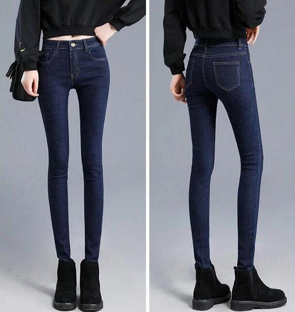 2019 New High-waisted Leggings Skinny Ladies Pants Em8 Women Plus Velvet Jeans Women PAU8-1-11