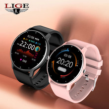 LIGE New Smart Watch Women Men Smart watch For Android IOS Electronics Smart Clock Fitness Tracker Silicone Strap Smart-watch