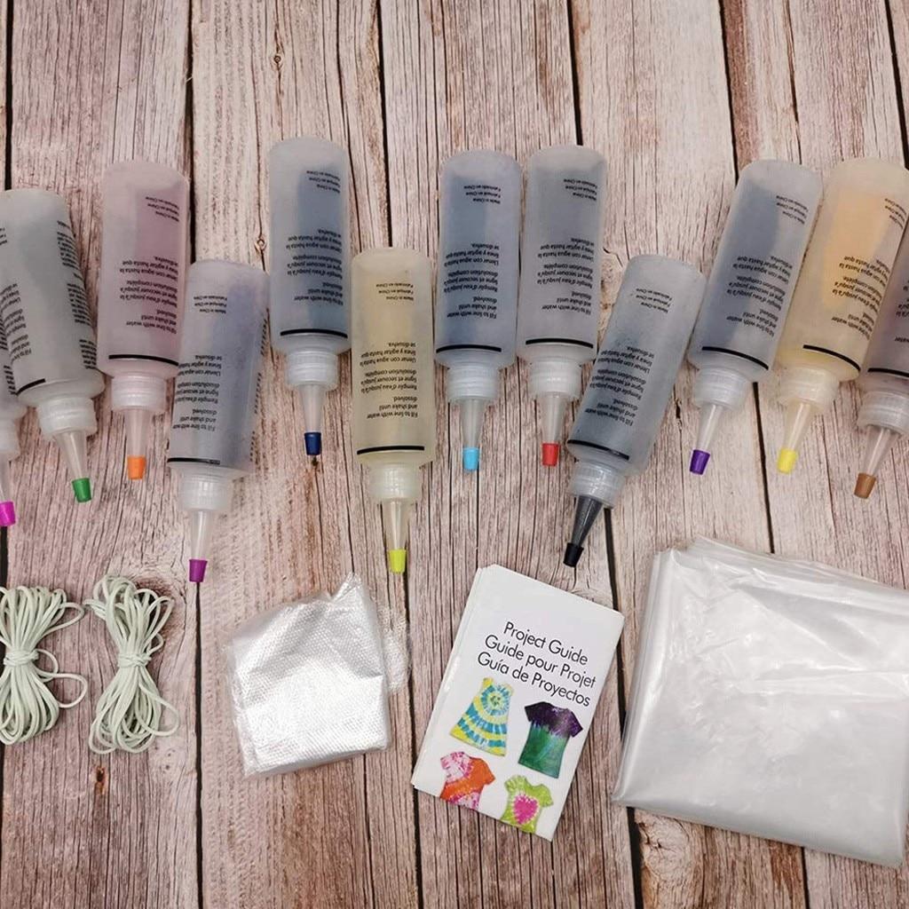 8 бутылок комплект Мути-цвет краски несмываемой краской галстук краситель набор постоянных один шаг галстук краситель набор для DIY искусства одежды Drop ткань #Р25