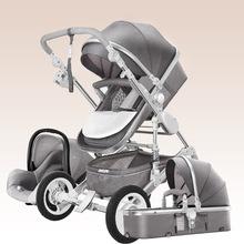 Luksusowy wózek spacerowy dziecięcy 3 w 1 wysoki krajobraz luksusowy wózek różowy wózek podróżny wózek spacerowy wózek dziecięcy wózek dziecięcy BA60TC tanie tanio oeny CN (pochodzenie) 0-3 M 4-6 M stroller Numer certyfikatu Llghtweight Stroller Baby Stroller 3 in 1 Free Shipping