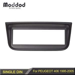 1 Din Radio Fascia for Peugeot 406 1995-2005 Stereo Panel Dash CD Facia Audio Fittling Adapter DVD Face Frame Bezel Plate Mount(China)