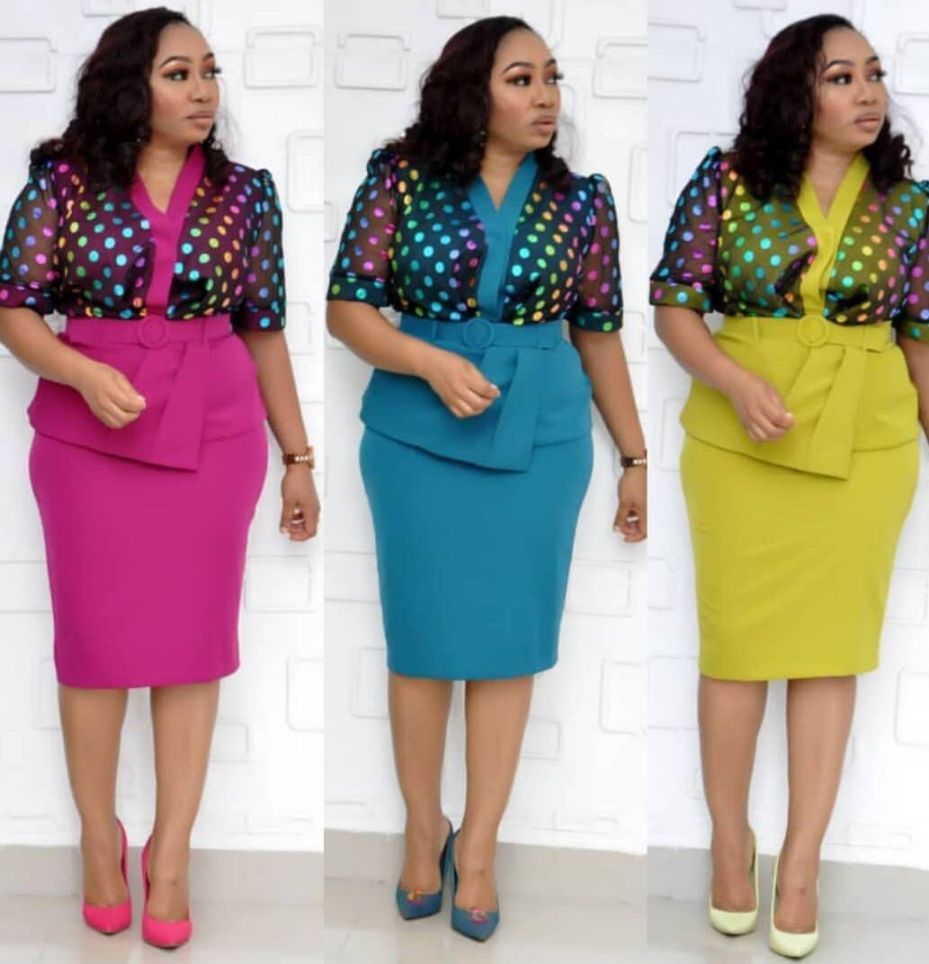 2019 Summer Elegent Fashion Style African Women V-neck Sequined Plus Size Knee-length Dress