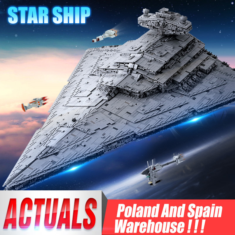 DHL 05027 Star Wars Compatible MOC-23556 Imperial Star Destroyer Set 75292 Kids Christmas Toy Gift Building Blocks Bricks
