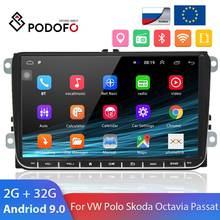 Podofo 2 Din Android 8,1 Auto Radio 2din GPS Auto-Multimedia-Player Für VW Golf Polo Skoda Octavia Schnelle Sitz tiguan Passat