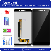 "For Nokia 6 2018 / 6.1 TA 1043 TA 1045 5.5"" LCD Display Touch Screen Digitizer Assembly Replacement LCDs + Gift"