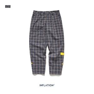 Image 5 - אינפלציה מותג רטרו משובץ צמר גברים מכנסיים Harajuku Loose ישר מקרית גברים מכנסיים 2020 AW רחוב סגנון זכר מכנסיים 93362W