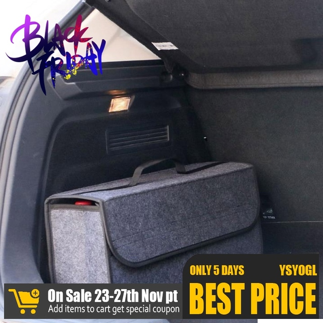 50*17*24cm Car Trunk Organizer Car Storage Bag Cargo Container Box Fireproof Stowing Tidying Holder Multi Pocket Car Styling