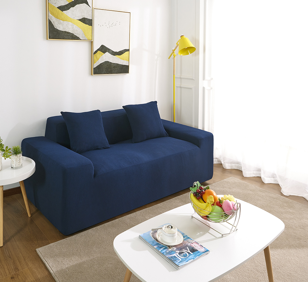 MEIJUNER Waterproof Sofa Cover in Solid Color with High Stretchable Slipcover for Dining Room 11