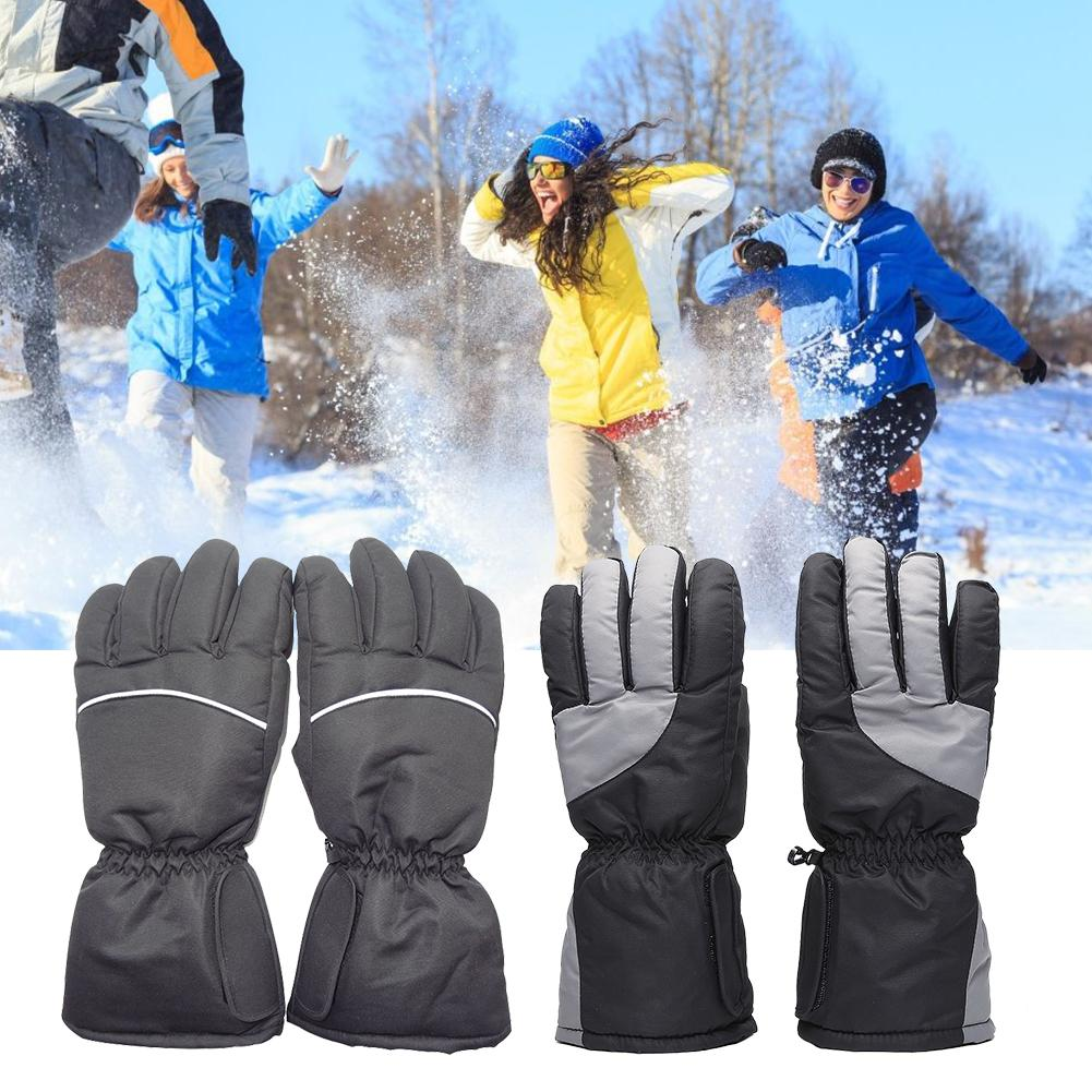 Smart USB Elektrische Heizung Handschuhe, <font><b>Winter</b></font> Warme Winddicht Outdoor <font><b>Sport</b></font> Skifahren Handschuhe Lithium-Batterie 5 Finger Selbst Erhitzt image