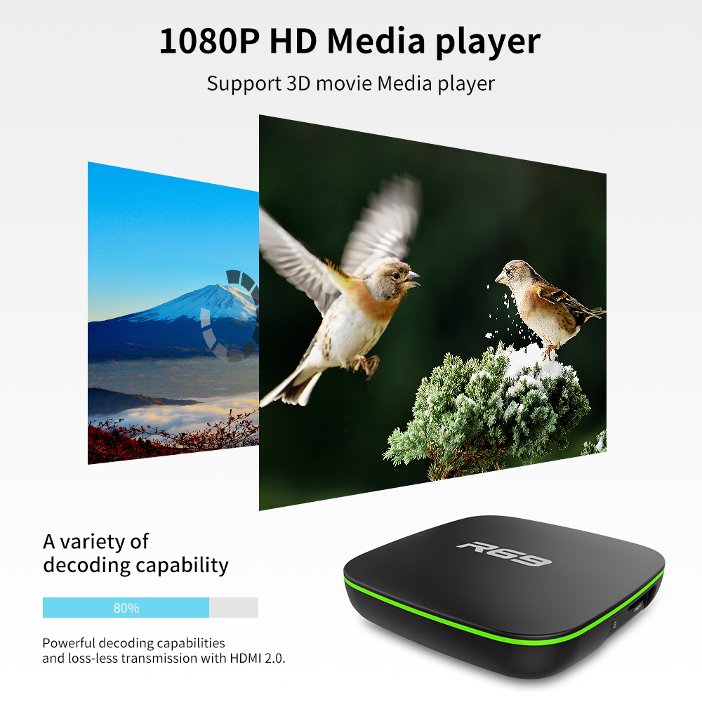Image 3 - Mini R69 Android 7.1 Smart TV Box 1GB 8GB Allwinner H3 Quad Core 2.4G Wifi Set Top Box 1080P HD Support 3D movie Suppot IPTV Box-in Set-top Boxes from Consumer Electronics