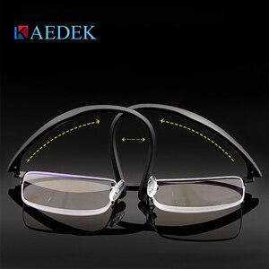 Image 3 - KAEDEK בציר קריאת משקפיים נשים גברים רטרו סגסוגת מרשם משקפי מלבן עסקים רוחק פרסביופיה משקפיים