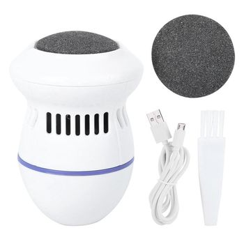 Electric Foot File Grinder Vacuum Dead Skin Callus Remover Feet Pedicure Files Hard Cracked Clean Tool Foot Care USB Rechargable foot files pedicure cracked dead skin remover kit foot file kit foot skin care for hard cracked dead skin removal skin care