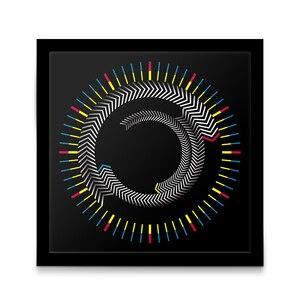 Image 2 - ความแปลกใหม่ไม้ Time กรอบตารางนาฬิกาแผ่นหมุนลูกศรที่มีสีสัน Wall CLOCK ออกแบบโมเดิร์นเดสก์ท็อป Graphic Art นาฬิกา