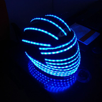 LED helmet Luminous costume Light up Alexander robot led robot costume hats stage performance show hats