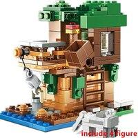 Nuovo The crafts Box 3.0 MINI Tree Pig House Alex Action Building Blocks set di modelli classici mattoni kit per bambini TV