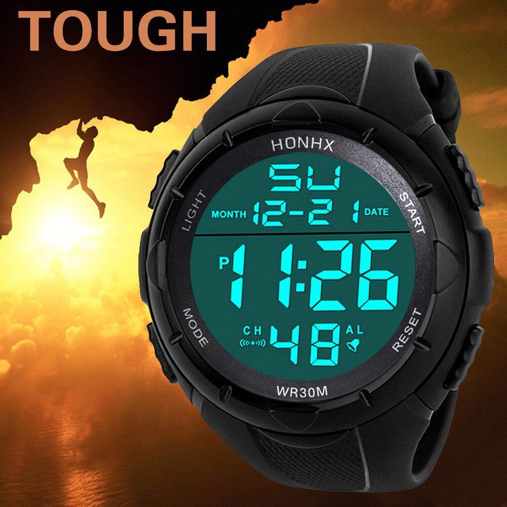 Luksusowe sportowe Casual Men zegarki cyfrowy mężczyzna kobiet zegarek silikonowy pasek Led elektroniczny mężczyzna zegarek zegar Relogio Masculino #3