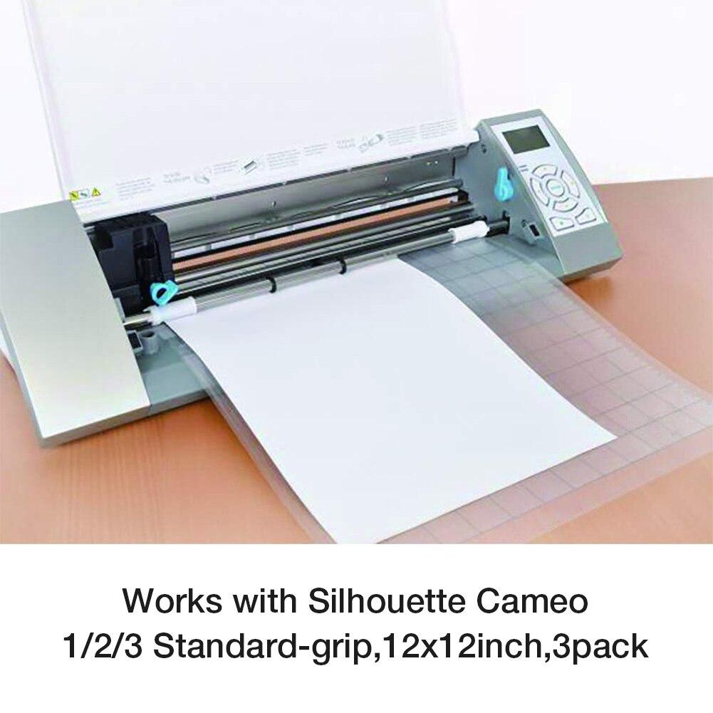 Сменный коврик для резки, 3 шт., прозрачный клейкий коврик с измерительной сеткой, 12 на 12 дюймов, для прибора для плоттера камеи