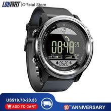 Lokmat Sport Smart Horloge Stappenteller 5ATM Waterdichte Real Time Weer Klok Digitale Mannen Bluetooth Smartwatch Voor Ios & Android