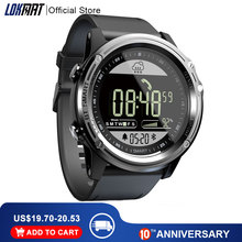 Lokmat esporte relógio inteligente pedômetro 5atm à prova dreal água tempo real relógio digital homem bluetooth smartwatch para ios & android