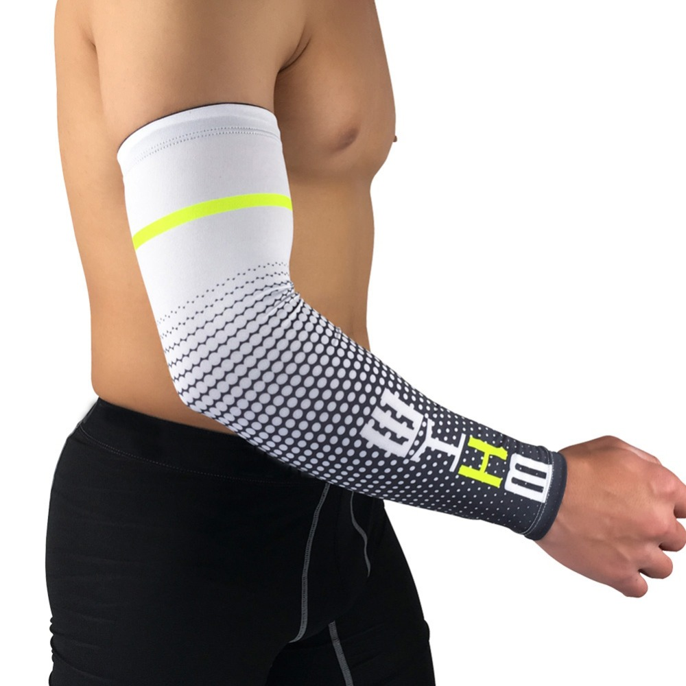 2 PCS Cool Men Sport Cycling Running Bicycle UV Sun Protection Cuff Cover Protective Arm Sleeve Bike Arm Warmers Sleeves