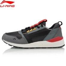 Li Ning Men LN 90 ไลฟ์สไตล์คลาสสิกรองเท้า Retro ฟิตเนสซับ Li Ning สบายกีฬารองเท้ารองเท้าผ้าใบ AGCP139 YXB329