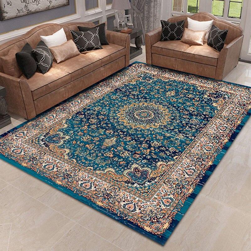 Home Bedroom Area Rug Iranian Persian Style Rug Living Room Moroccan Vintage Carpet Sofa Coffee Table Mat 100% Polypropylene