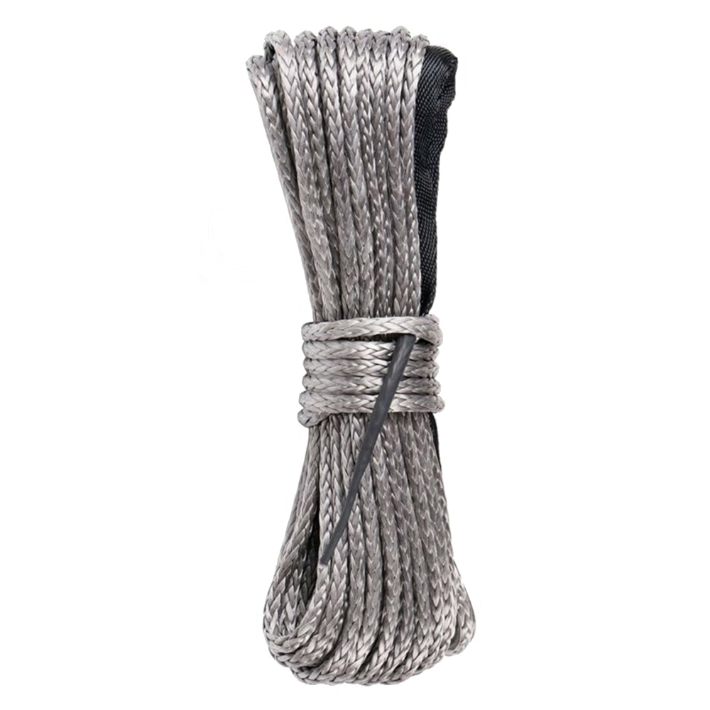 1/4 X 50 Synthetic Winch Rope Line Cable 10000 LB Capacity ATV UTV GREY