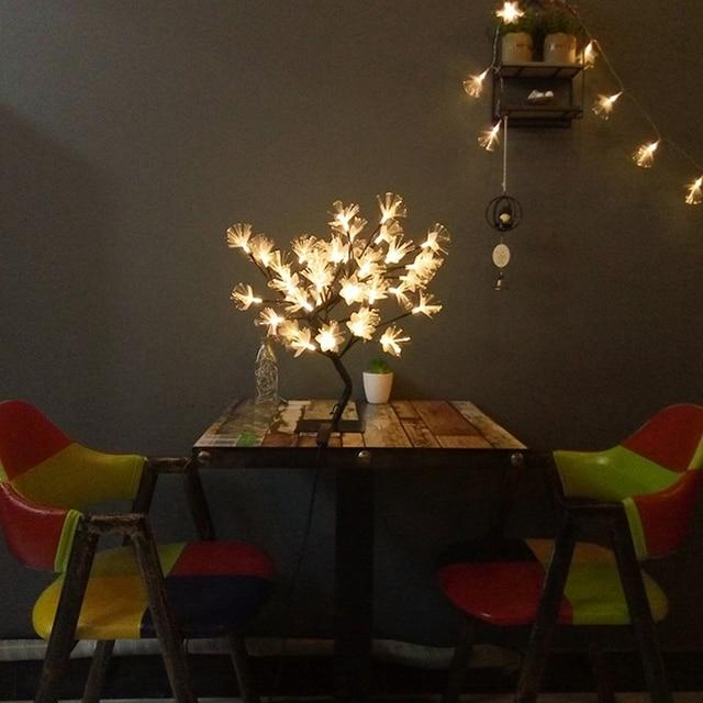 Promotion! LED saule branche lampe à piles Simulation orchidée branche lumineuse Vase remplissage fleur branche fée guirlande lumineuse (E 5