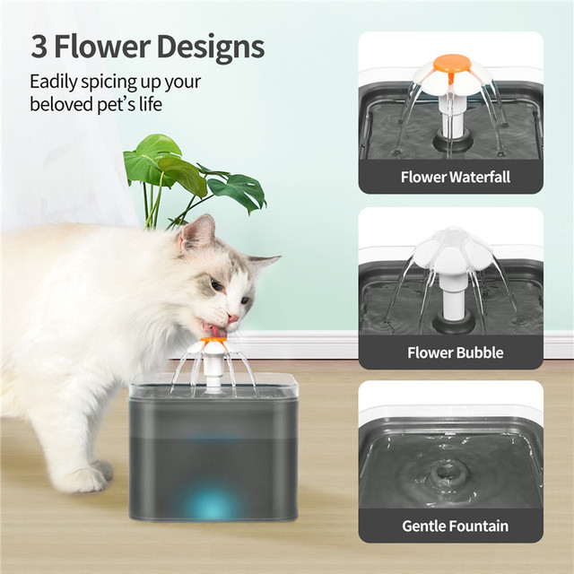 Automatic Pet Water Drinking Dispenser Fountain With LED Level Display  4