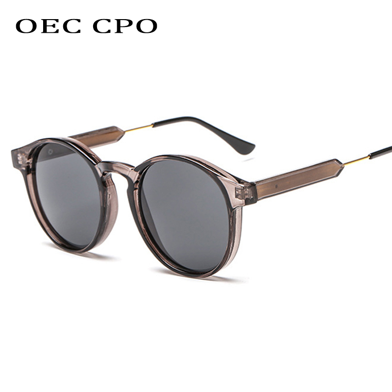 Donne Moda Retrò Bicchieri Di Plastica Rotondo Lente Occhiali Da Sole Eyewear frame glasses