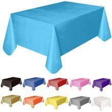 137x138cm ambientalmente descartável plástico festa de casamento toalha conjunto catering refeição talheres mesa pano retangular