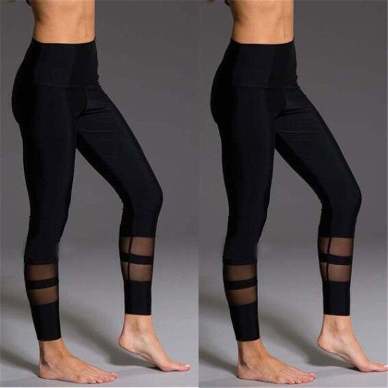 Mesh Patchwork Leggings Fitness Leggings For Women Jogging Elastic Slim Pants Leggins Mujer Sporting Workout Leggins