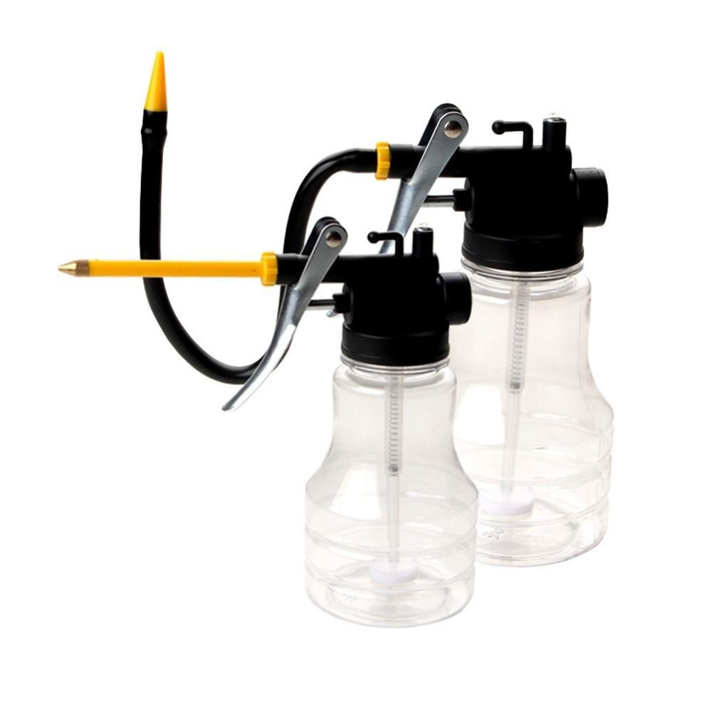 250ml Oil filling EquipmentTransparent High Pressure Pump Oiler Lubrication Oil Can Plastic Machine Oil Pot Extended /short hard