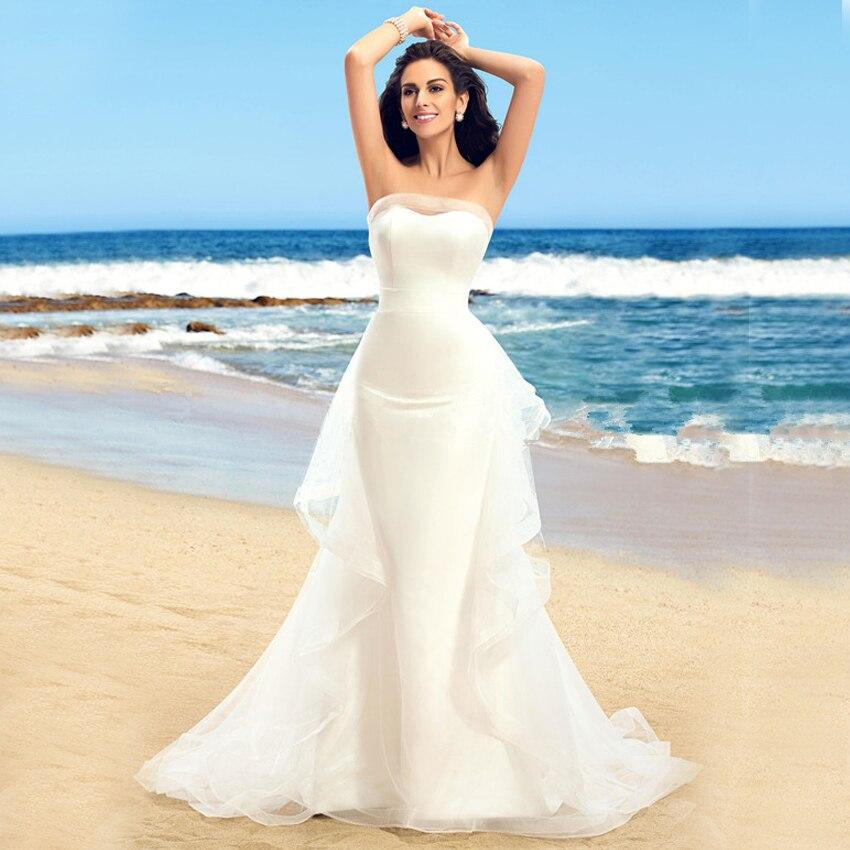 Robe De Soiree Elegant Strapless Off Shoulder Floor Length Ruffles Mermaid Wedding Bridal Gown 2018 Mother Of The Bride Dresses