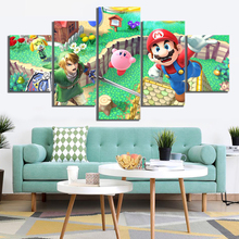HD Printed Painting 5 Pieces FTG Game Super Smash Bros Cartoon Poster Modular Canvas Pictures Decoration Modern Wall Artworks