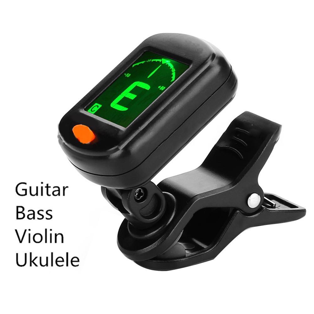 AT-101 Digital Clip Type Electric Digital Guitar Tuner Foldable High Sensitivity Rotating Clip