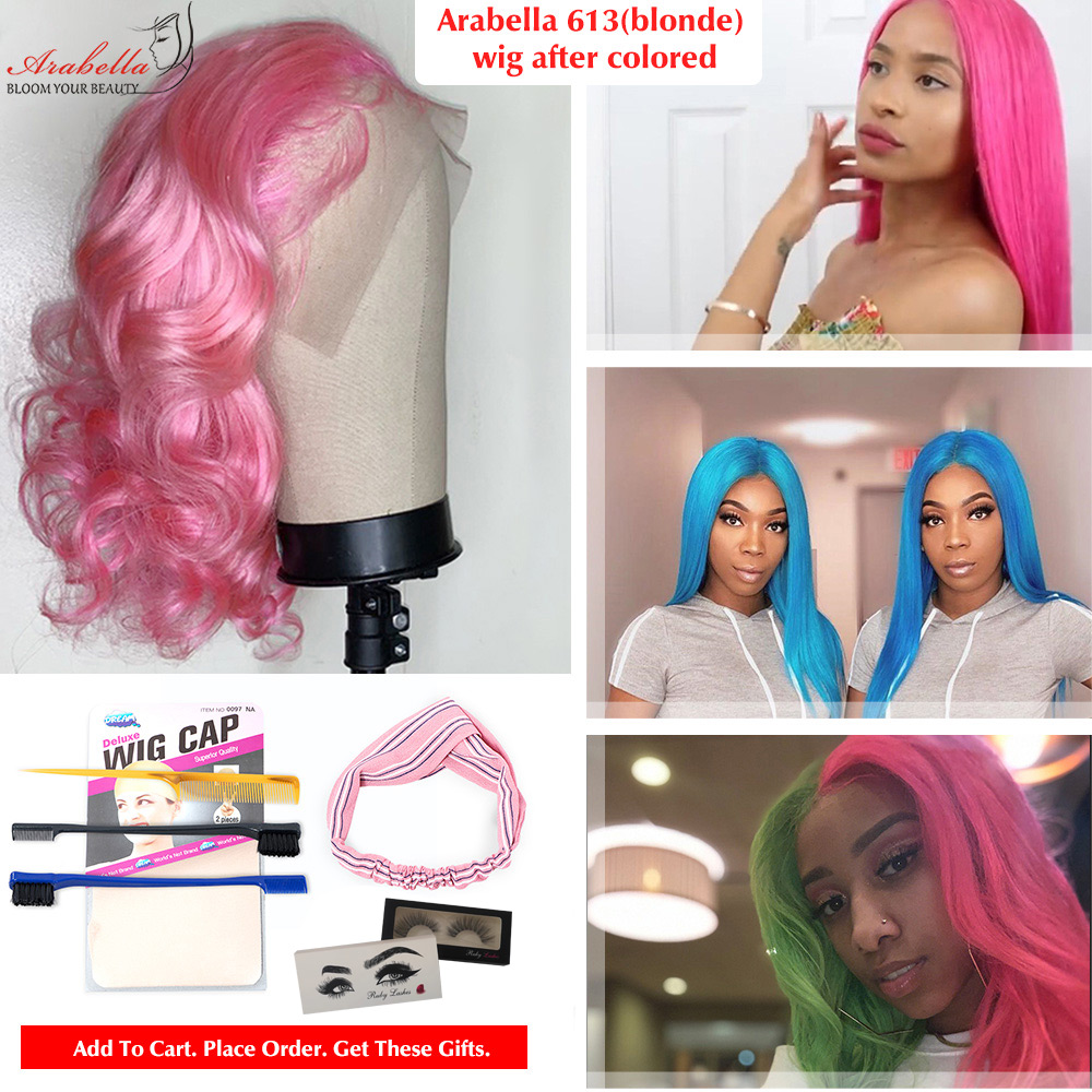 613 T Part Lace Wig 100%  Wigs Pre Plucked Bleached Knots With Baby Hair Arabella  Hair Wig Blonde Lace Wigs 6