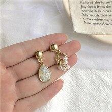 Modern Women's Earrings 2020 Vintage Geometric Pendants Earrings Fashion Asymmetric Metal Pearl Earrings For Women/Girl Jewelry недорого