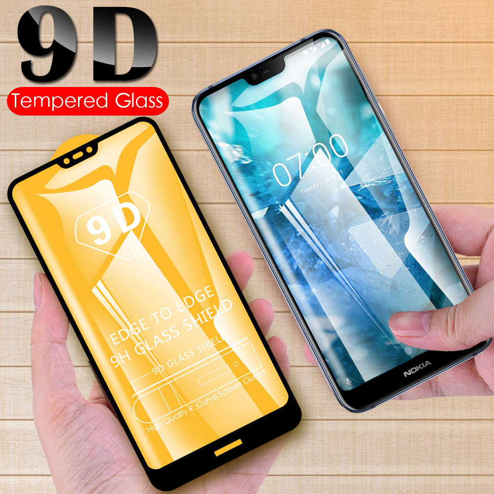 9D Full Cover <font><b>Screen</b></font> <font><b>Protector</b></font> Glass For <font><b>Nokia</b></font> 8.1 <font><b>7.2</b></font> 7.1 6.2 6.1 5.1 4.2 3.2 3.1 2.1 Plus Tempered Glass Protective Film image