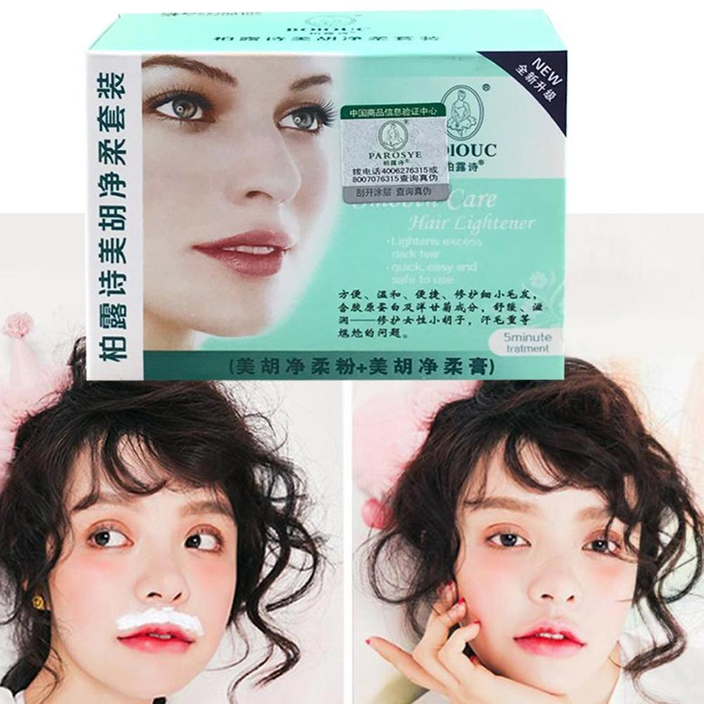 Facial Hair Bleaching Cream Eye Brow Cream Lighten Remove Hair Permanent Mustache Dark Bleach Brow Eye Fast Women I0S5