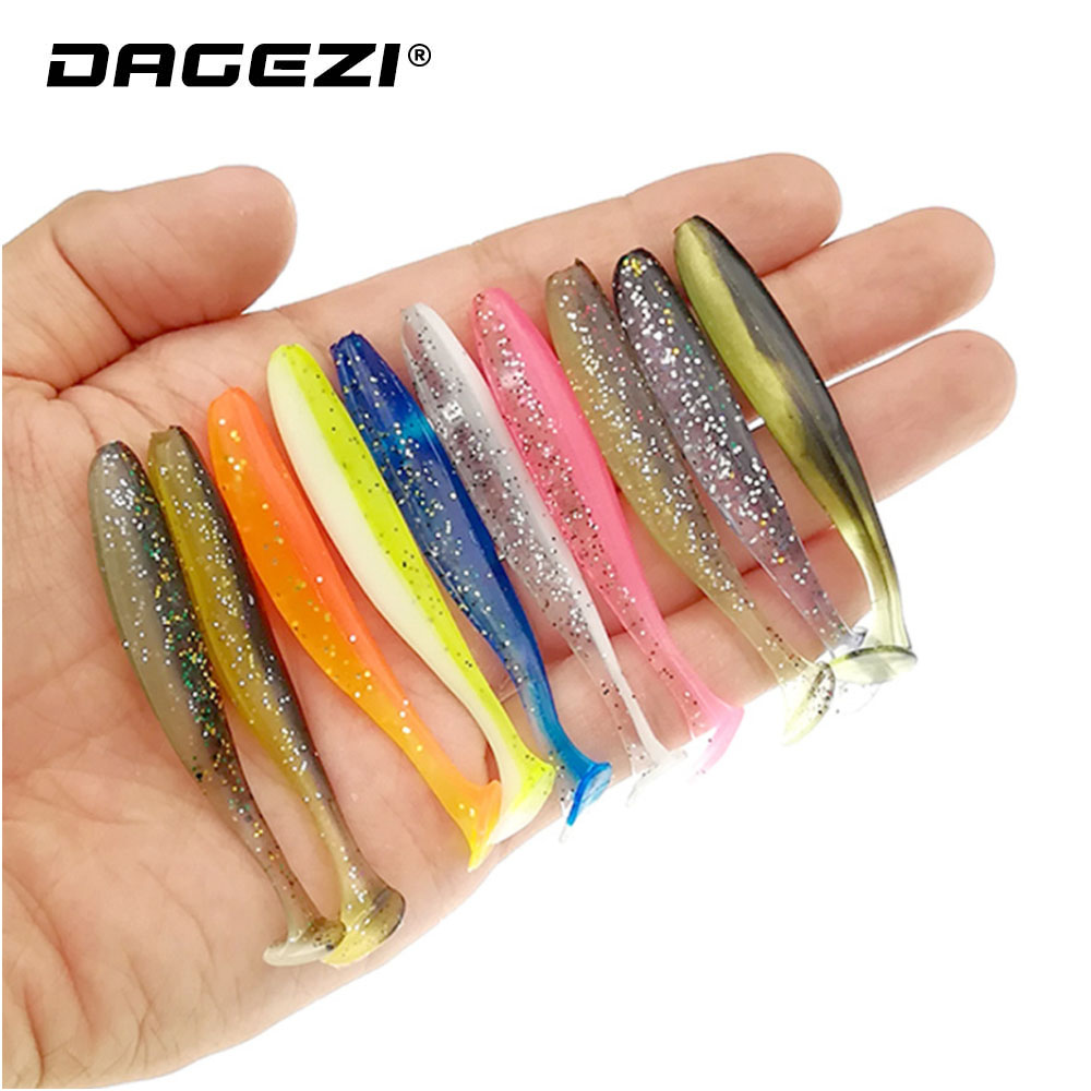 10pcs Artificial PVC Fishing Soft Lure Swimbait Fishing Tackle Accessories bait