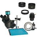 Двойной кронштейн настольная подставка 3.5X-90X промышленный Тринокулярный Стерео микроскоп 14MP HDMI цифровой микроскоп Ювелирные изделия телеф...